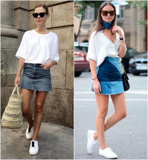 imagem 4 8 490x528 Jeitos de usar Saia Jeans Curta Perfeita para o Verão