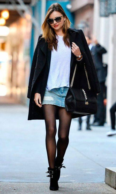 imagem 41 490x817 Jeitos de usar Saia Jeans Curta Perfeita para o Verão