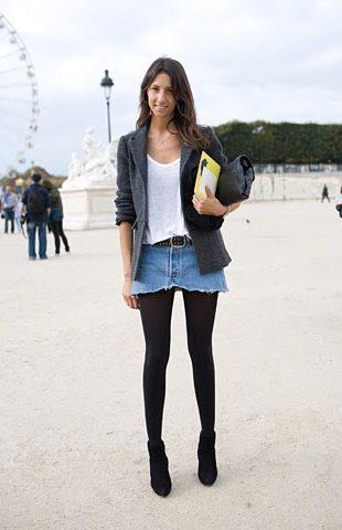 imagem 43 310x480 Jeitos de usar Saia Jeans Curta Perfeita para o Verão