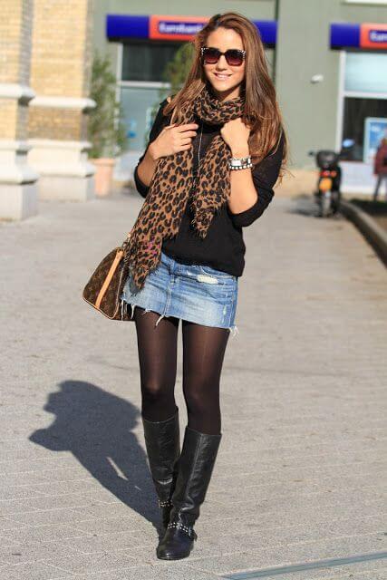 imagem 44 Jeitos de usar Saia Jeans Curta Perfeita para o Verão