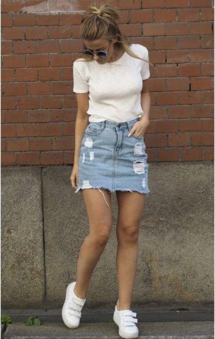 imagem 5 10 Jeitos de usar Saia Jeans Curta Perfeita para o Verão