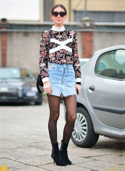 imagem 5 11 490x672 Jeitos de usar Saia Jeans Curta Perfeita para o Verão