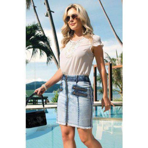 imagem 54 490x490 Jeitos de usar Saia Jeans Curta Perfeita para o Verão