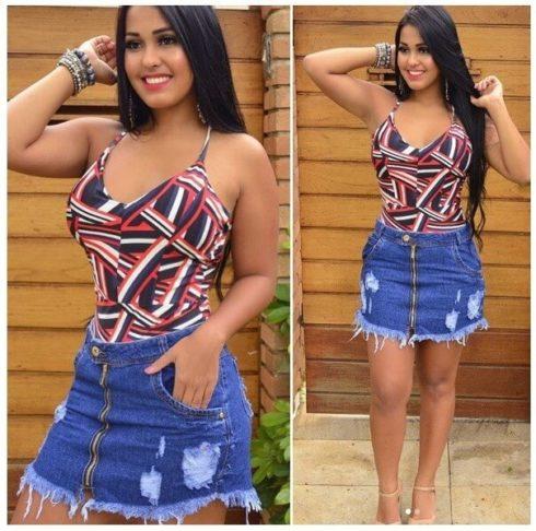 imagem 56 490x486 Jeitos de usar Saia Jeans Curta Perfeita para o Verão