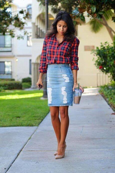 imagem 6 15 Jeitos de usar Saia Jeans Curta Perfeita para o Verão