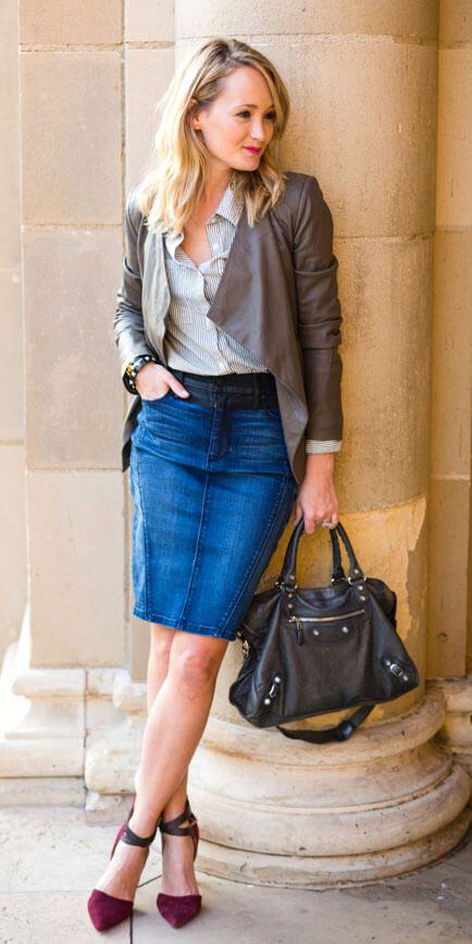imagem 7 11 Jeitos de usar Saia Jeans Curta Perfeita para o Verão