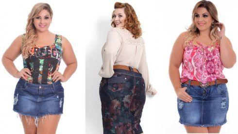saia jeans curta para gordinha 2 490x276 Jeitos de usar Saia Jeans Curta Perfeita para o Verão