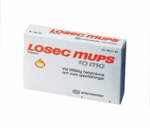 Losec Mups 10 mg 490x419 Remédio e Leite para Bebê com Refluxo, Tratamento