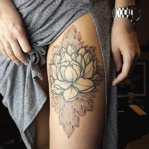 imagem 22 5 490x490 Tatuagem Flor de Lótus Feminina, Áreas a Tatuar