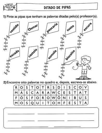 imagem 5 22 Atividade Ditado de Palavras para o Ensino Fundamental