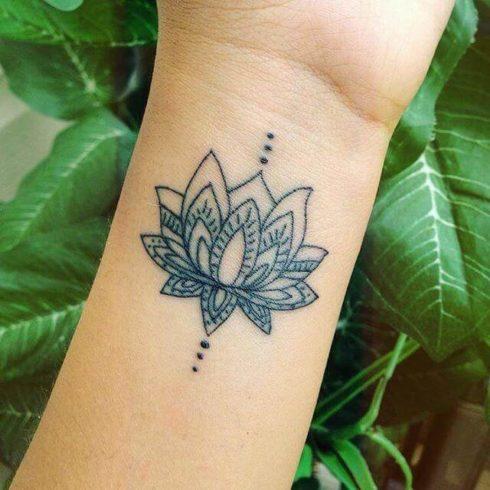 imagem 53 1 490x490 Tatuagem Flor de Lótus Feminina, Áreas a Tatuar