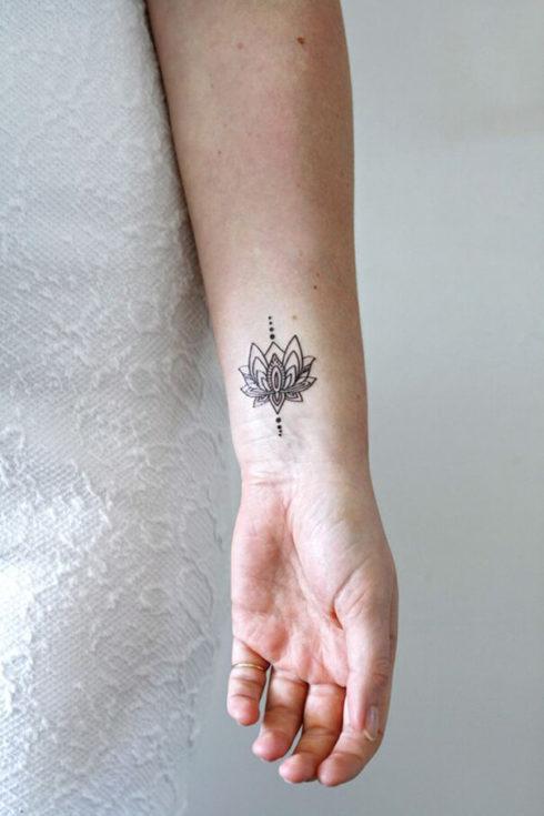 imagem 57 490x735 Tatuagem Flor de Lótus Feminina, Áreas a Tatuar