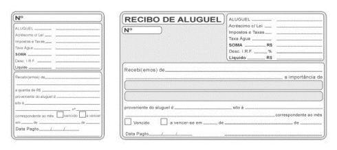 modelo de recibo com canhoto 490x219 Modelos de Recibo de Aluguel para Imprimir