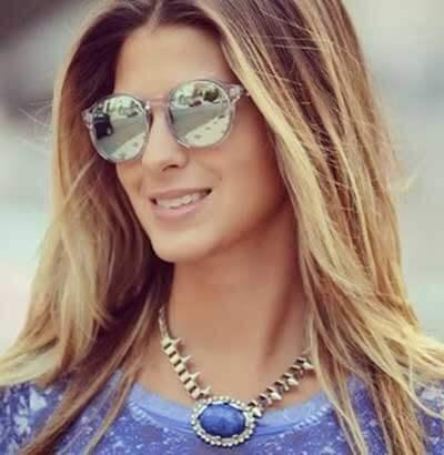 oculos de sol espelhado feminino da moda Óculos de Sol para o Verão modelos modernos e da Moda