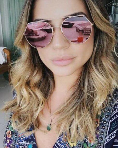 oculos de sol espelhado feminino rosa 490x614 Óculos de Sol para o Verão modelos modernos e da Moda
