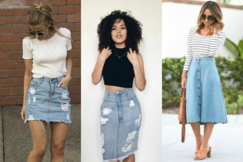 saia de ver%C3%A3o de jeans 490x327 Saia da Moda Verão, Modelitos especiais que vestem bem