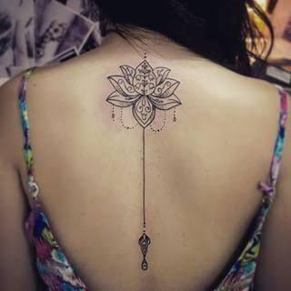 tatuagem flor de lotus nas costas 1 Tatuagem Flor de Lótus Feminina, Áreas a Tatuar