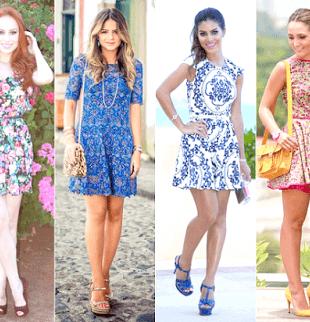 vestido de ver%C3%A3o curto e estampado 310x322 Vestidos de Verão : Modelos doces e Encantadores, confira