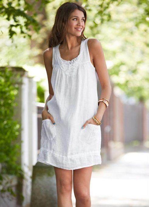 vestido de verao branco 2 490x678 Vestidos de Verão : Modelos doces e Encantadores, confira