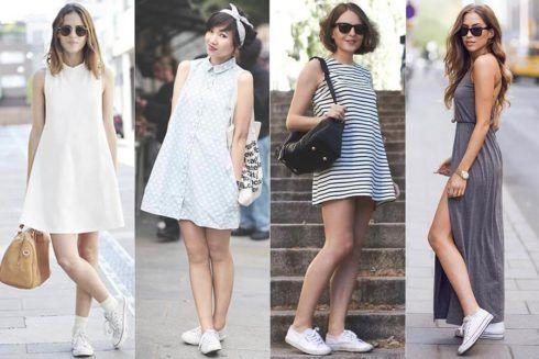vestido de verao com tenis 1 490x327 Vestidos de Verão : Modelos doces e Encantadores, confira
