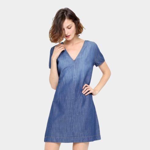 vestido jeans de ver%C3%A3o 1 490x490 Vestidos de Verão : Modelos doces e Encantadores, confira