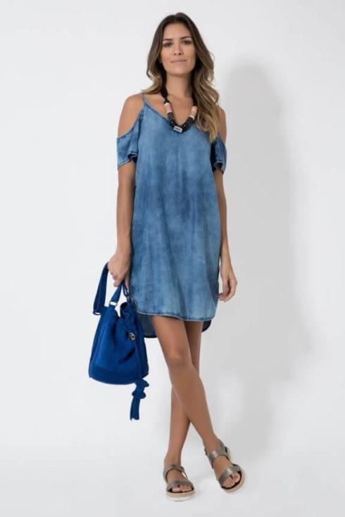 vestido jeans de ver%C3%A3o 2 490x735 Vestidos de Verão : Modelos doces e Encantadores, confira