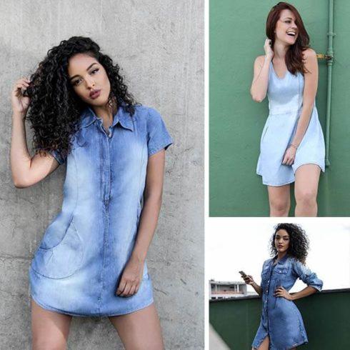 vestido jeans de ver%C3%A3o 3 490x490 Vestidos de Verão : Modelos doces e Encantadores, confira