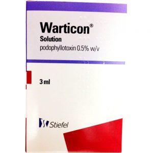 Warticon Solution Wartec creme Pomada para Verrugas no Rosto e Verruga Genital, Nomes