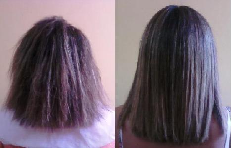 antes e depois realinhamento capilar 1 O Realinhamento Capilar para que Serve e como é Feito