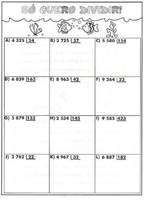 atividades divis%C3%A3o para imprimir 3 490x690 Entendendo Dividendo Divisor resultado e resto, Matemática