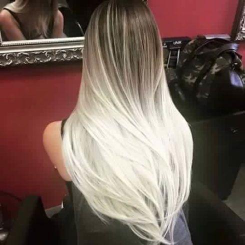 cabelo ombr%C3%A9 hair platinado 1 490x490 Cabelo Ombré Hair visuais Incríveis e charmosos