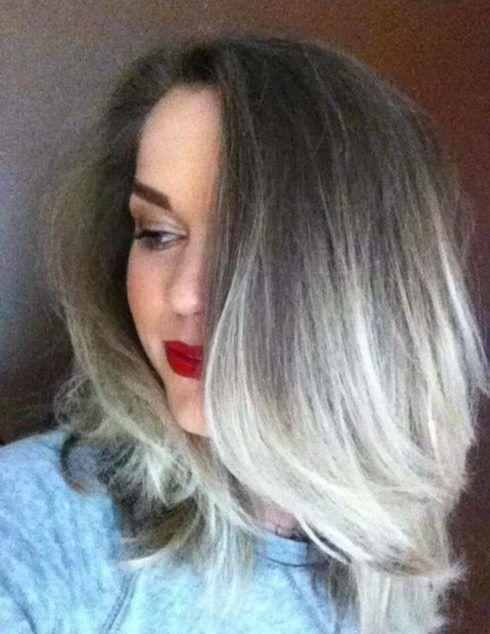 cabelo ombr%C3%A9 hair platinado 2 490x634 Cabelo Ombré Hair visuais Incríveis e charmosos