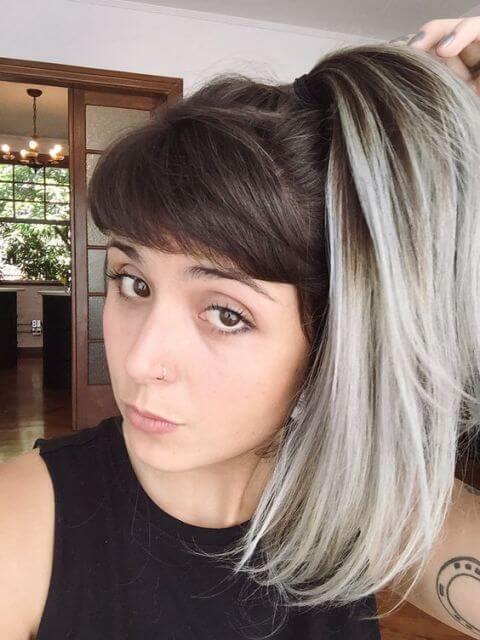 cabelo ombr%C3%A9 hair platinado 4 Cabelo Ombré Hair visuais Incríveis e charmosos