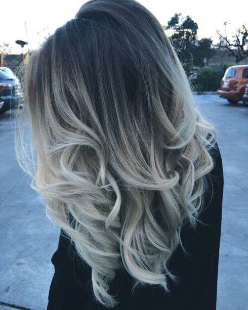 cabelo ombr%C3%A9 hair platinado 5 490x613 Cabelo Ombré Hair visuais Incríveis e charmosos