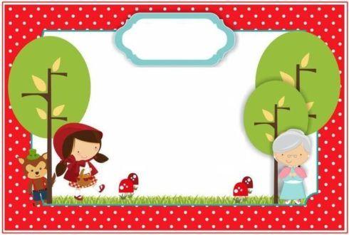 convite chapeuzinho vermelho 2 490x330 Decoração Festa Chapeuzinho Vermelho de Aniversário infantil