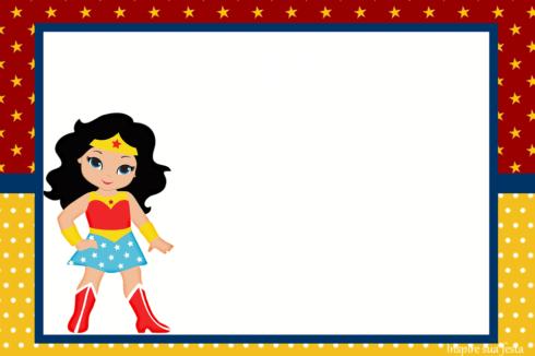 convite de aniversario mulher maravilha 2 490x326 Festa de Aniversário Mulher Maravilha para Meninas, Conheça