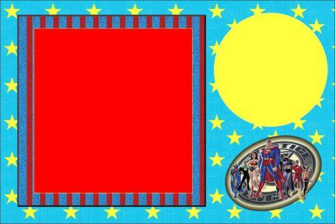 convites liga da justi%C3%A7a 2 490x327 Festa Infantil de Aniversário Liga da Justiça como Decorar com Esse Tema