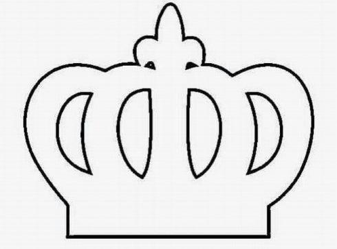 coroa para imprimir 1 490x363 Molde de Coroa para Imprimir, atividades de Artes