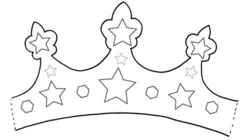 coroa para imprimir 2 490x279 Molde de Coroa para Imprimir, atividades de Artes