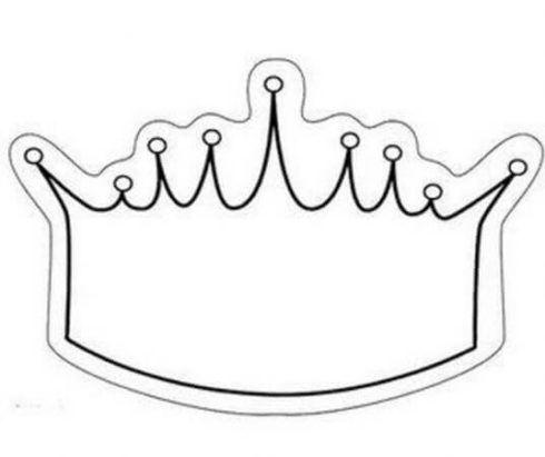 coroa para imprimir 4 490x411 Molde de Coroa para Imprimir, atividades de Artes