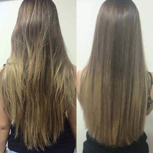 cortes bordados antes e depois 490x490 Corte de Cabelo Bordado Fotos Antes e Depois, Benefícios