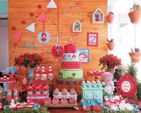 decora%C3%A7%C3%A3o festa chapeuzinho vermelho 1 490x393 Decoração Festa Chapeuzinho Vermelho de Aniversário infantil