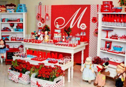 decora%C3%A7%C3%A3o festa chapeuzinho vermelho 4 490x339 Decoração Festa Chapeuzinho Vermelho de Aniversário infantil