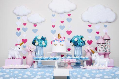 decoracao festa unicornio 1 490x327 Decoração festa Unicórnio para Aniversário Infantil, ideias