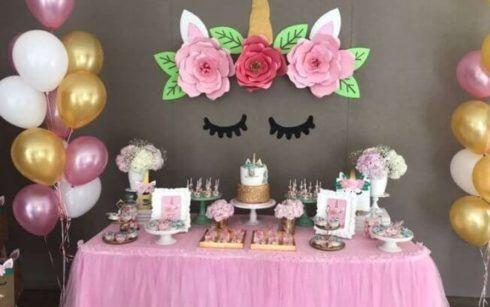 decoracao festa unicornio 2 490x307 Decoração festa Unicórnio para Aniversário Infantil, ideias