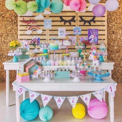 decoracao festa unicornio 3 490x490 Decoração festa Unicórnio para Aniversário Infantil, ideias