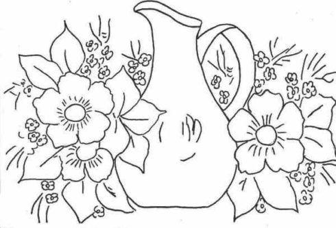 desenhos para pintura em tecido 2 490x333 Moldes de Desenhos para Pintura em Tecido, veja