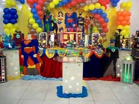 festa de aniversario liga da justica 1 Festa Infantil de Aniversário Liga da Justiça como Decorar com Esse Tema