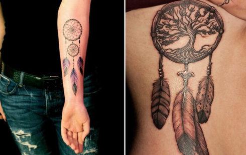 filtro dos sonhos no bra%C3%A7o 1 490x309 Tatuagem Filtro dos Sonhos Feminina em diversas partes do corpo