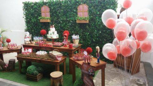 imagem 12 4 490x275 Decoração Festa Chapeuzinho Vermelho de Aniversário infantil